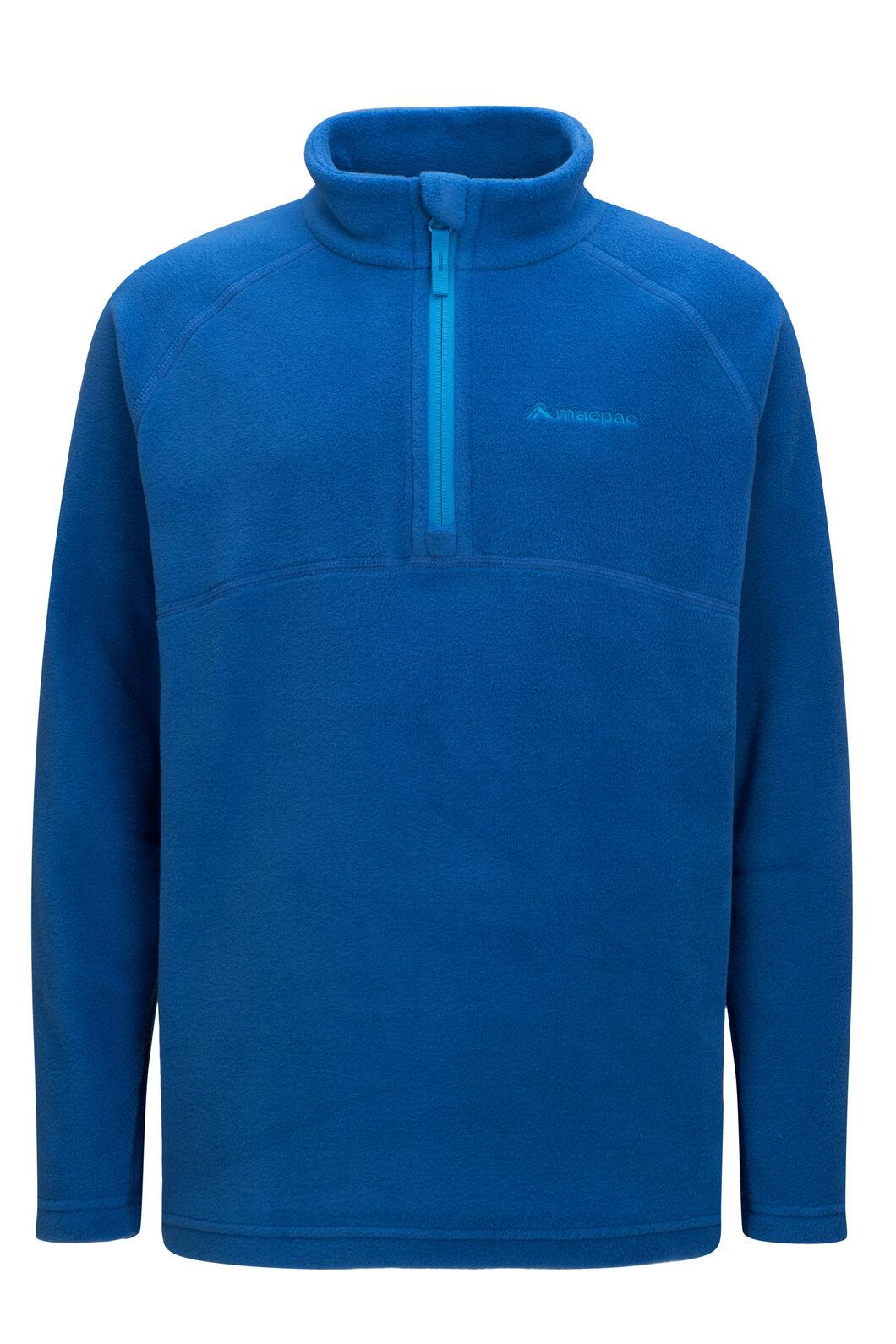 Macpac Kids' Tui Polartec® Fleece Pullover, Classic Blue, hi-res