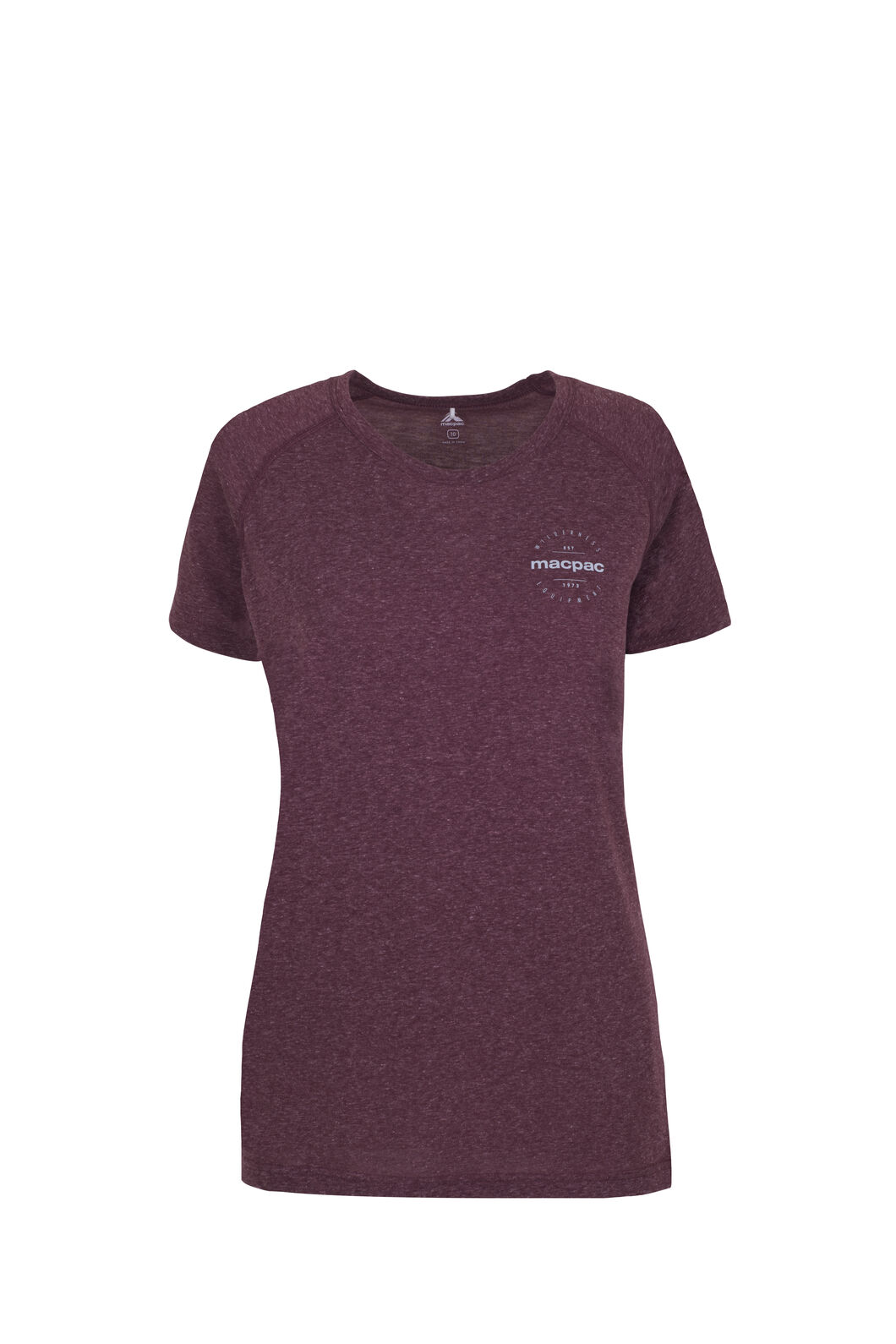 Macpac Polycotton Tee - Women's, Windsor Wine, hi-res