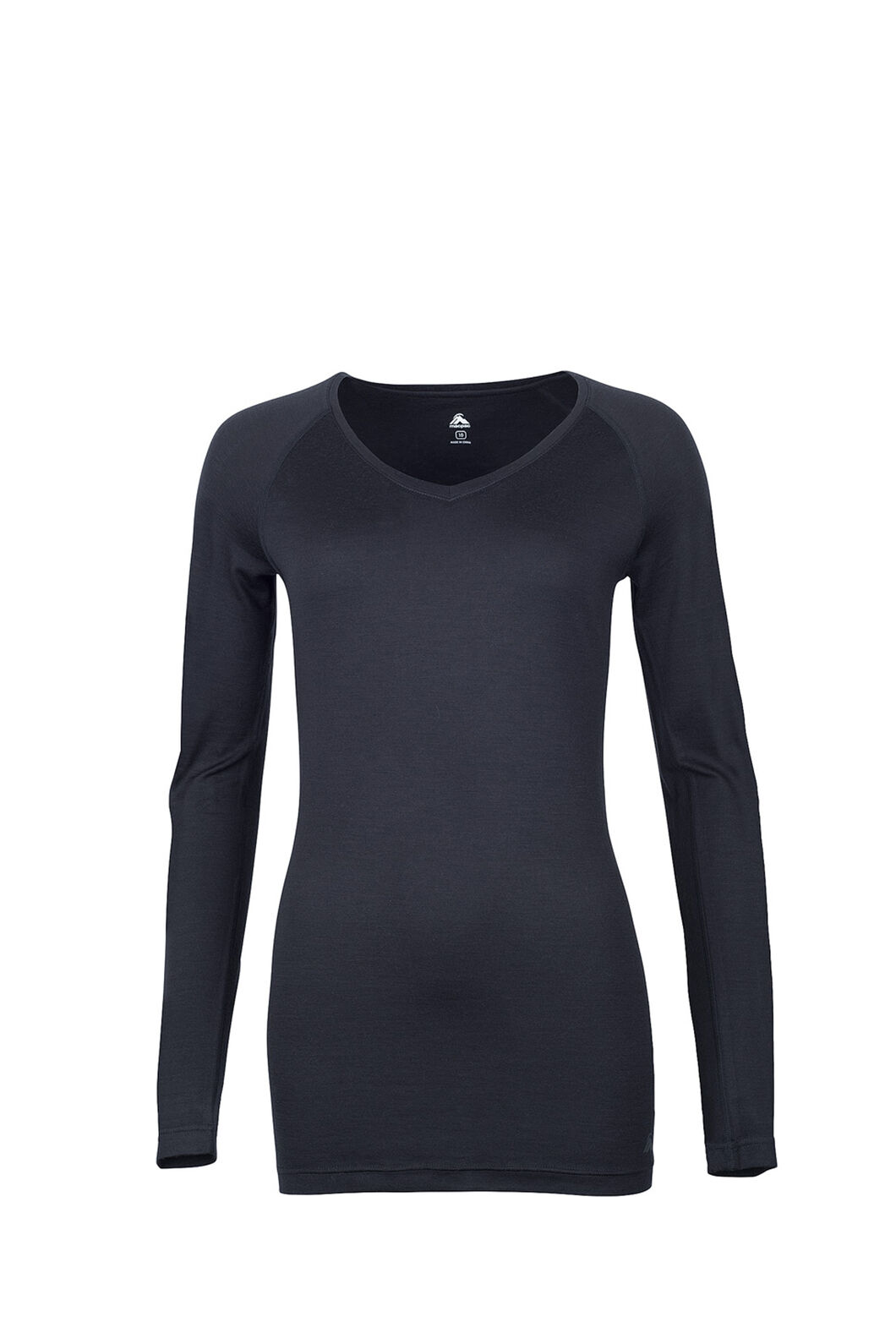 Macpac 150 Merino V-Neck Top — Women's, Black, hi-res