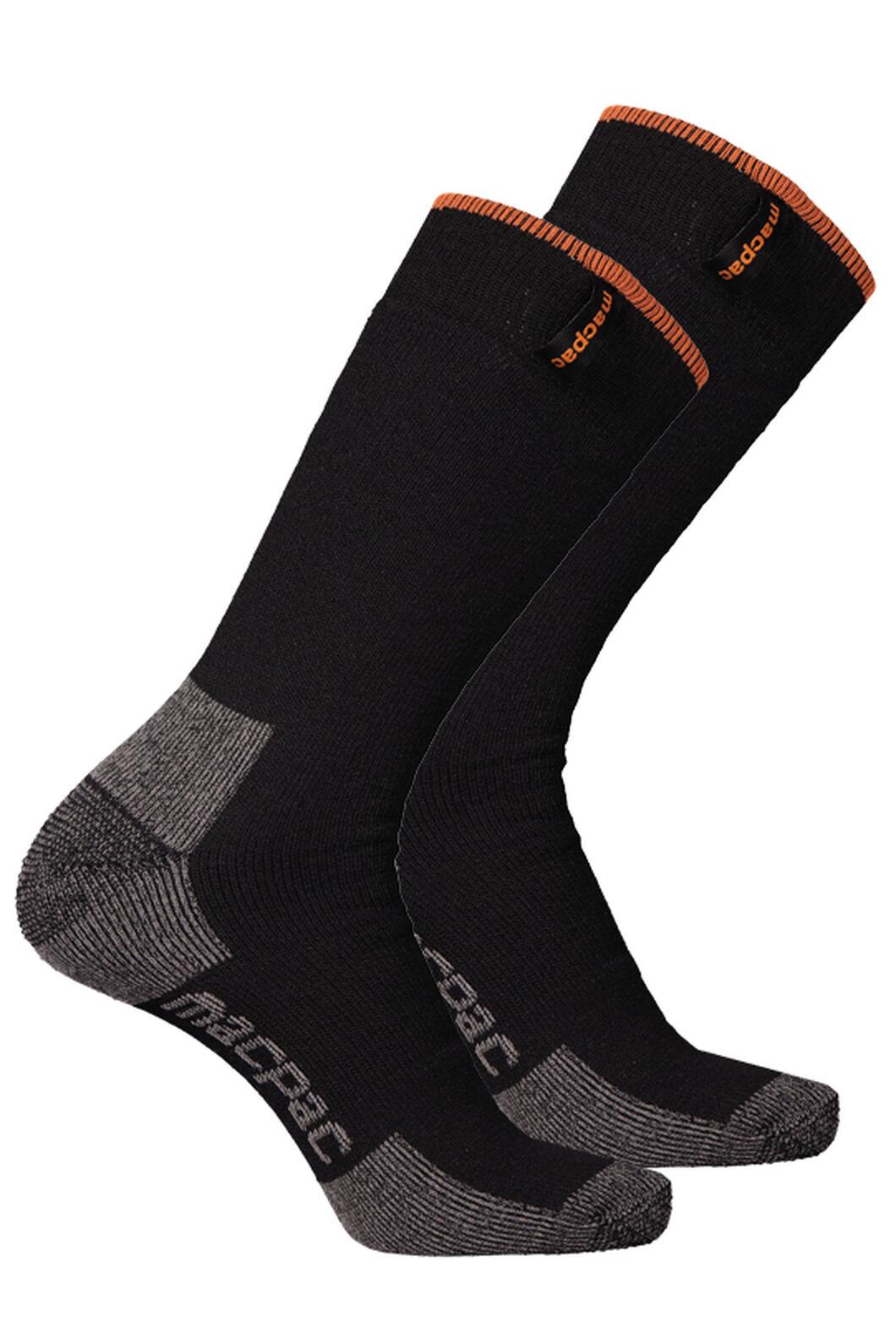 Thermal Socks 2 Pack, Black/Black, hi-res
