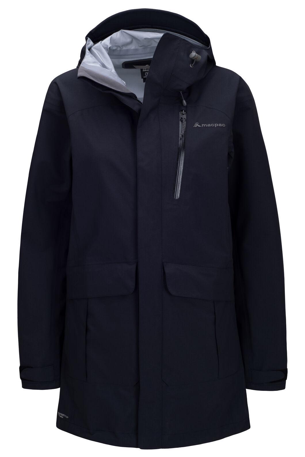 Macpac Women's Copland Pertex® Raincoat, Black, hi-res