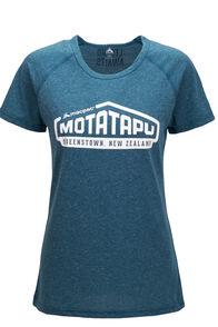 Macpac Motatapu Polycotton Tee — Women's, Blue Coral, hi-res