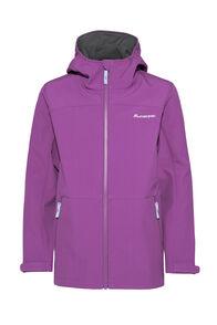 Macpac Kids' Sabre Hooded Softshell Jacket, Wood Violet, hi-res