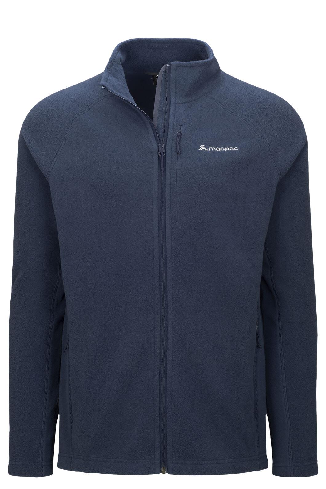 Macpac Men's Tui Polartec® Micro Fleece® Jacket, Black Iris, hi-res