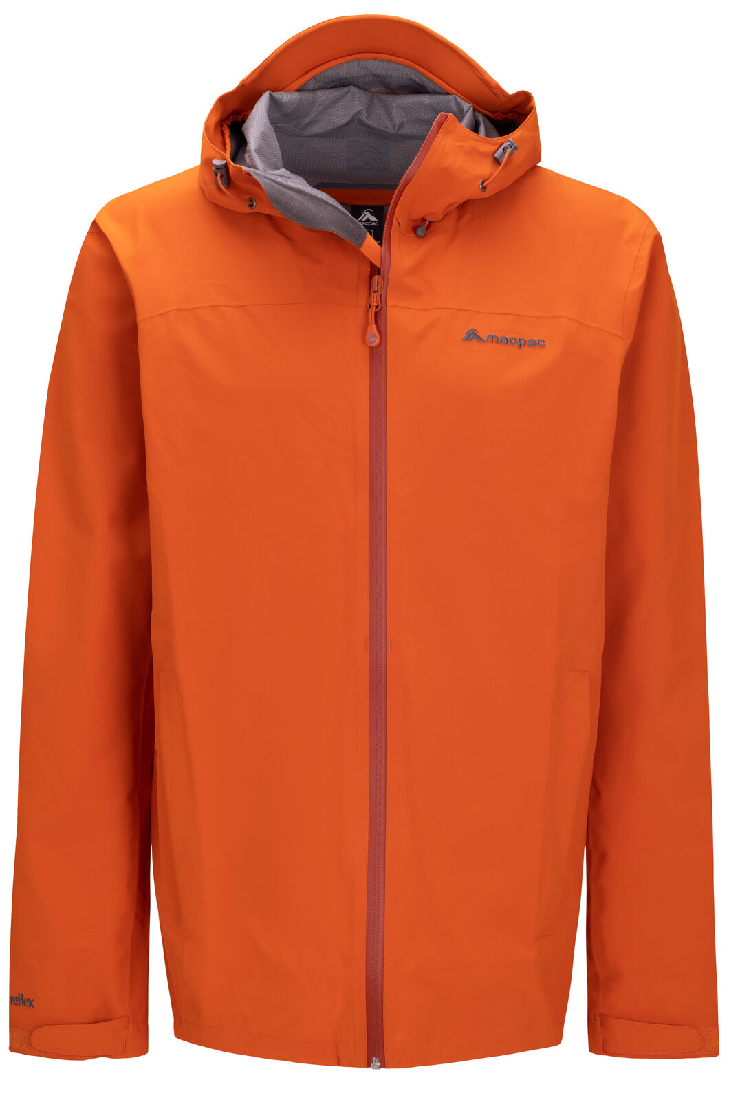 Macpac Men's Dispatch Rain Jacket, Orange Flame, hi-res