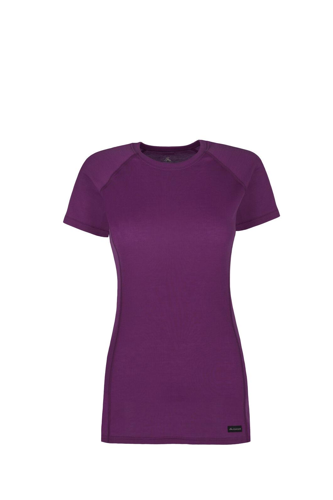 Macpac Geothermal Short Sleeve Top - Women's, Dahlia, hi-res