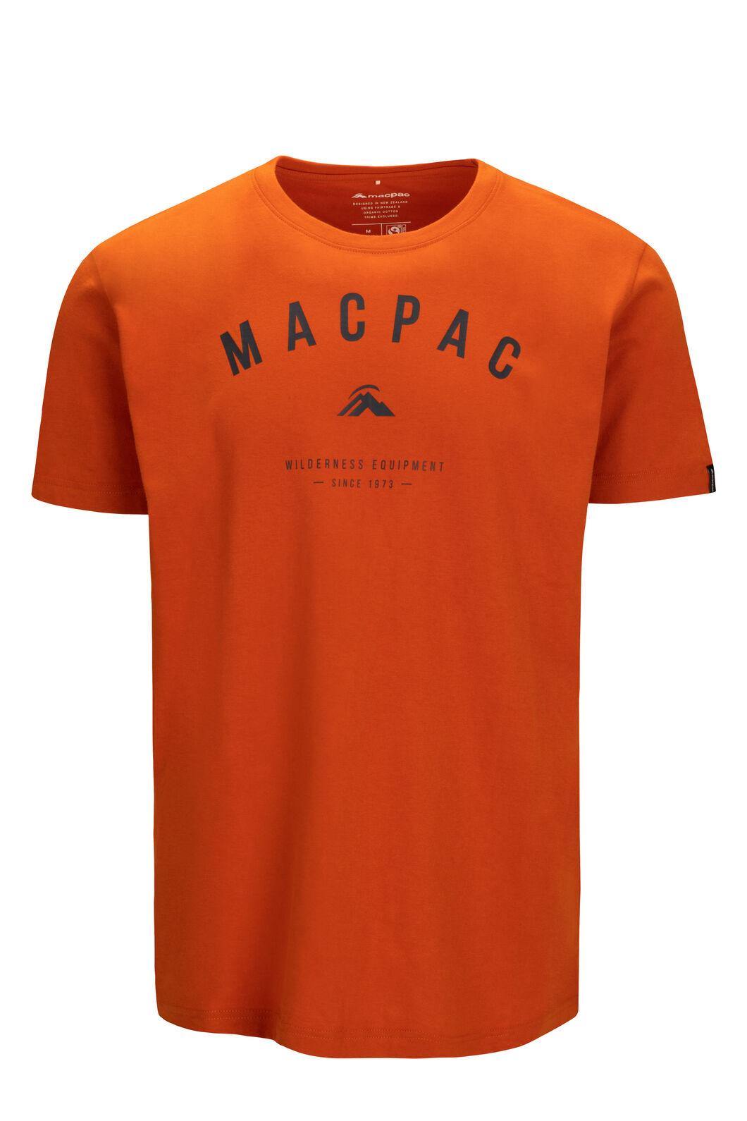 Macpac Men's Graphic Short Sleeve Tee, Orange Flame, hi-res