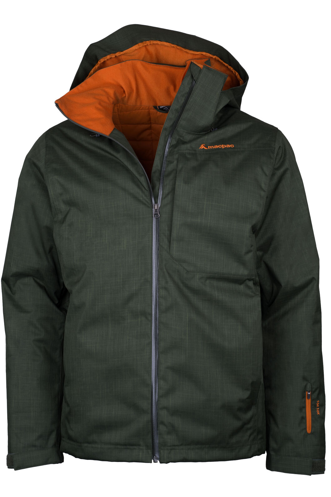Macpac Powder Reflex™ Ski Jacket — Men's, Kombu Green, hi-res