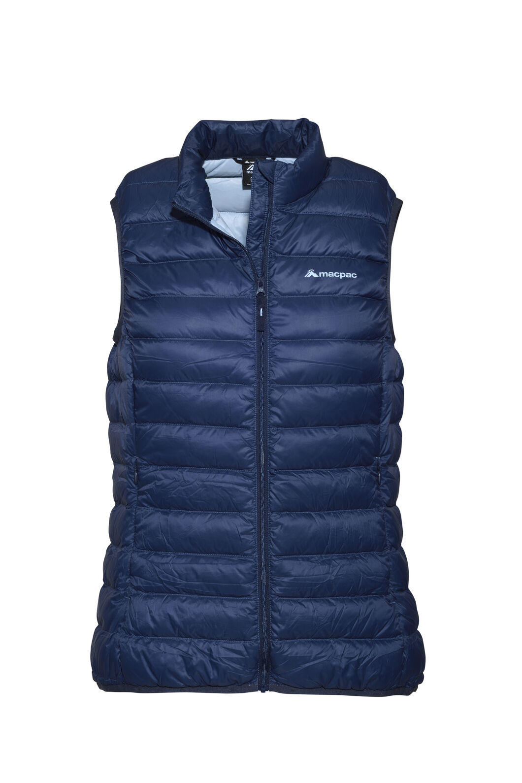 Macpac Uber Light Down Vest — Women's, Black Iris/Blue Fog, hi-res