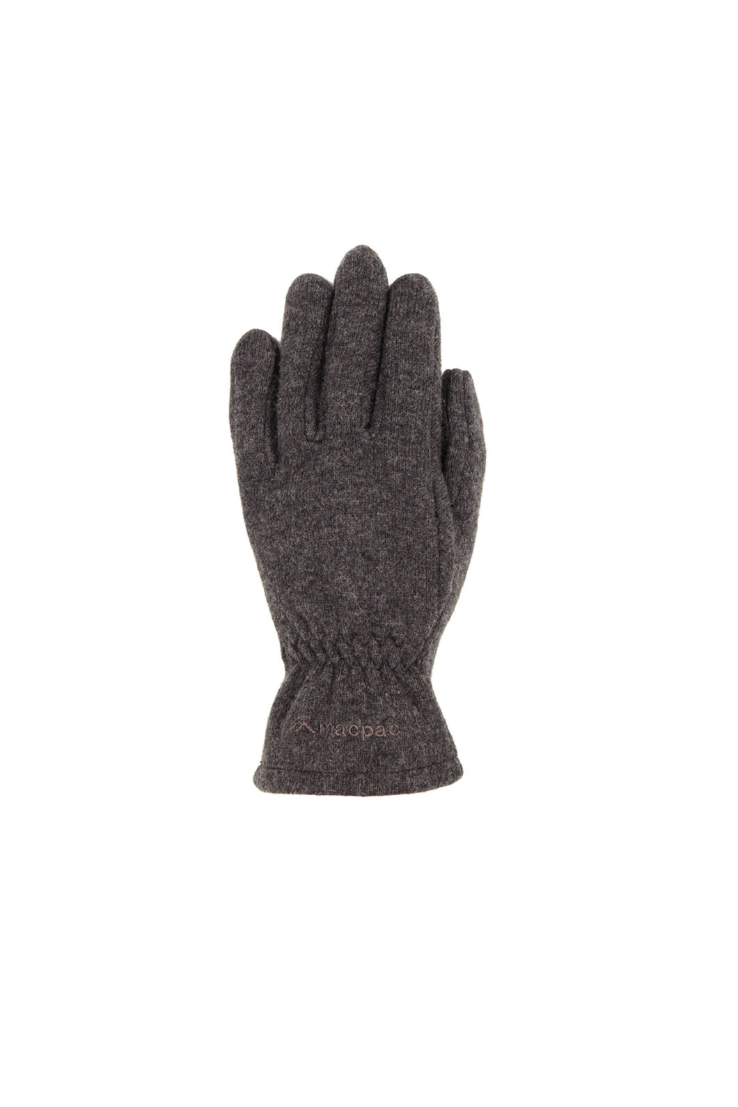Macpac Tech Wool Gloves, Charcoal, hi-res
