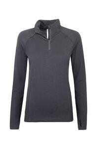 Macpac Merino 180 Half Zip Pullover — Women's, Black, hi-res