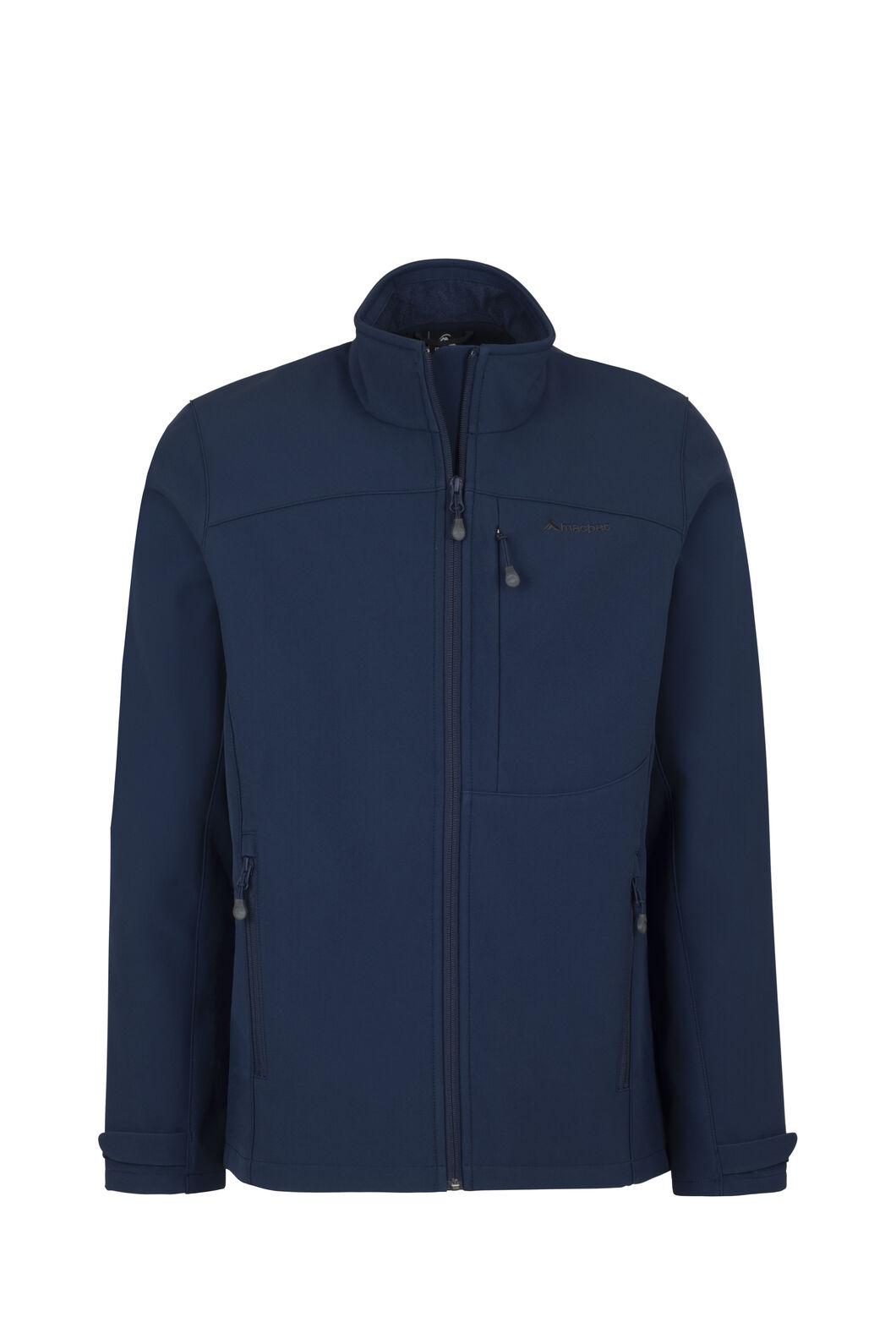 Macpac Sabre Softshell Jacket — Men's, Black Iris, hi-res