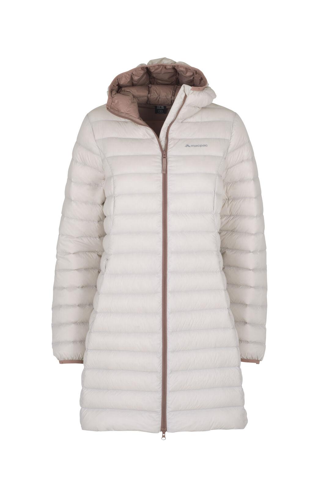 Macpac Uber Light Down Coat - Women's, Grey Morn/Burlwood, hi-res