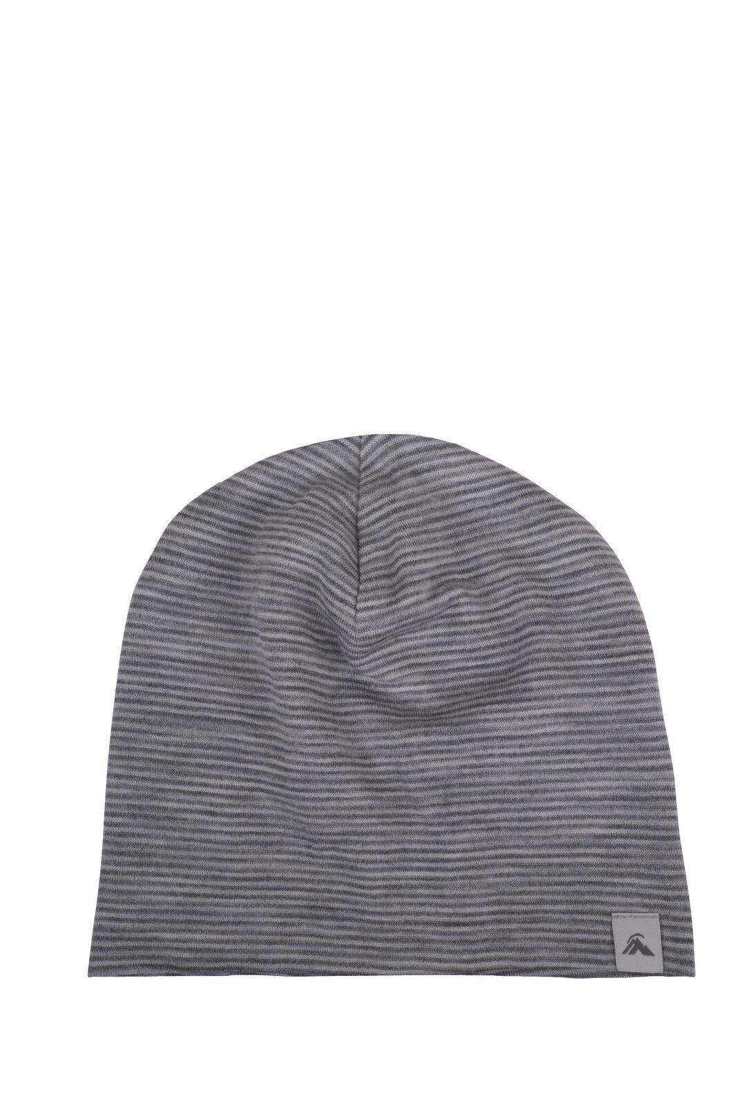 Macpac Merino 150 Beanie — Baby, Light Grey Stripe, hi-res