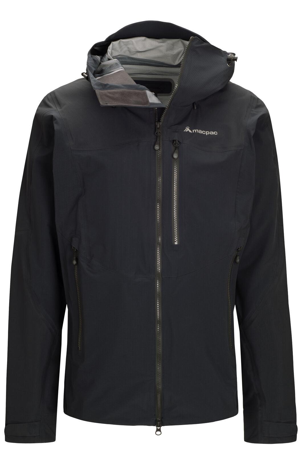 Macpac Men's Lightweight Prophet Pertex® Rain Jacket, Black/Black, hi-res