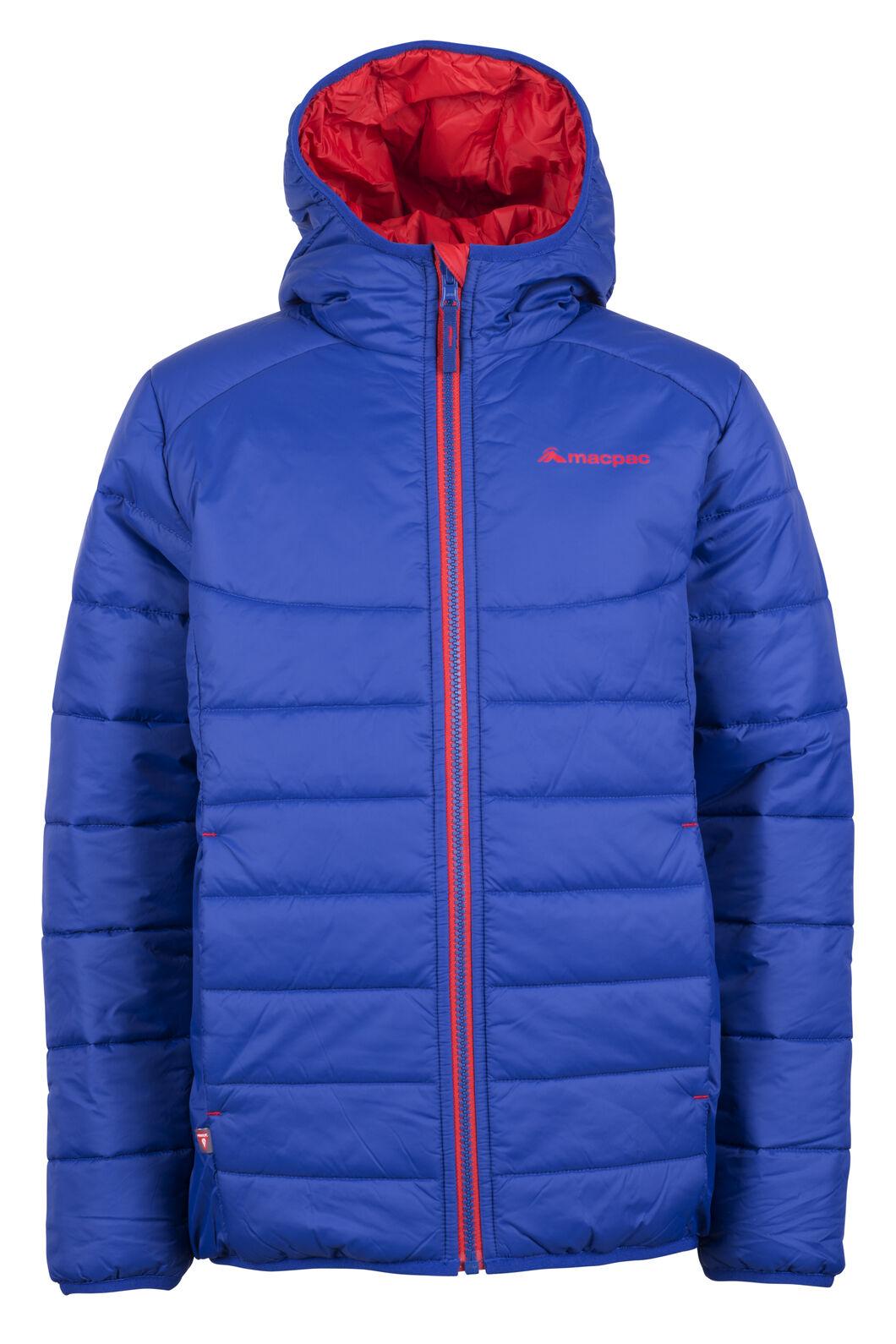 Macpac Pulsar Hooded Primaloft® SILVER Jacket - Kids', Sodalite Blue, hi-res