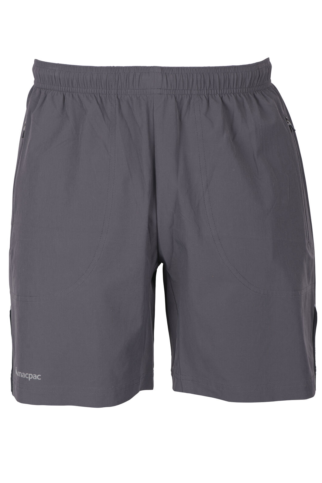 Macpac Fast Track Shorts - Men's, Forged Iron/Blue Aster, hi-res