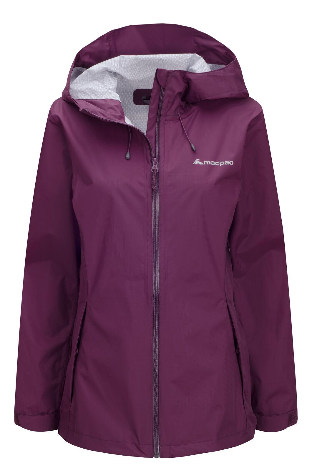 Macpac Women's Mistral Rain Jacket, Grape Wine, hi-res