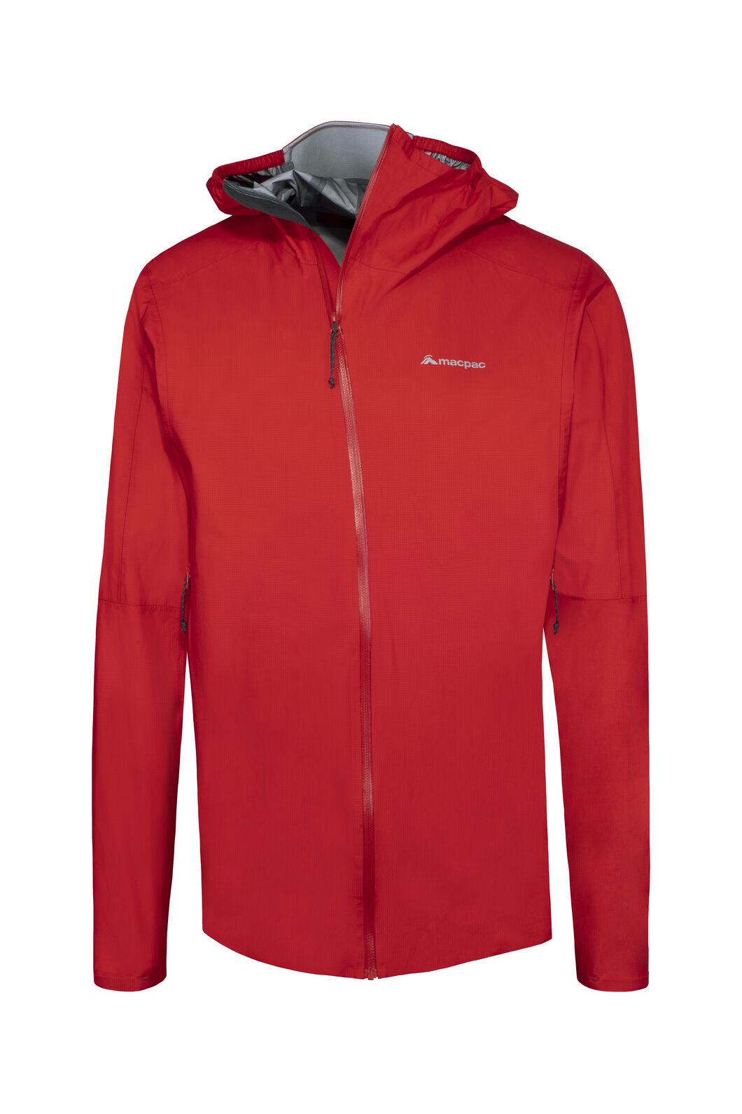 Macpac Nazomi Pertex® Rain Jacket — Men's, Flame Scarlet, hi-res