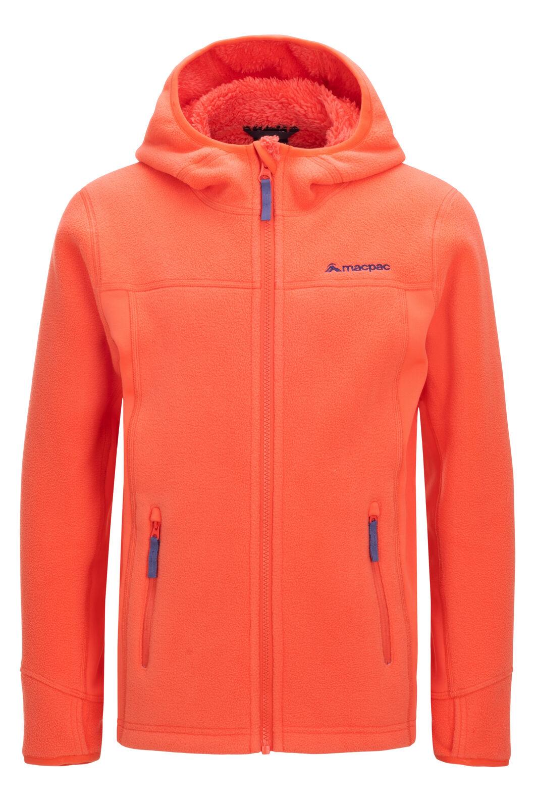 Macpac Mini Mountain Hooded Jacket — Kids', Living Coral, hi-res