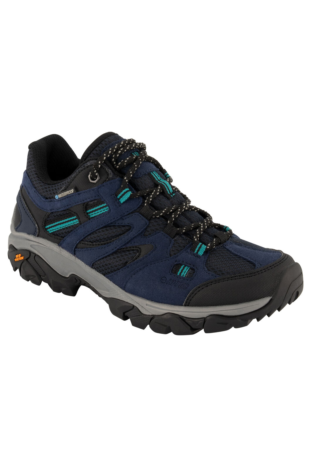 Hi-Tec Ravus Vent Lite WP Low Hiking Shoes — Women's, Midnight/Black Navigate, hi-res