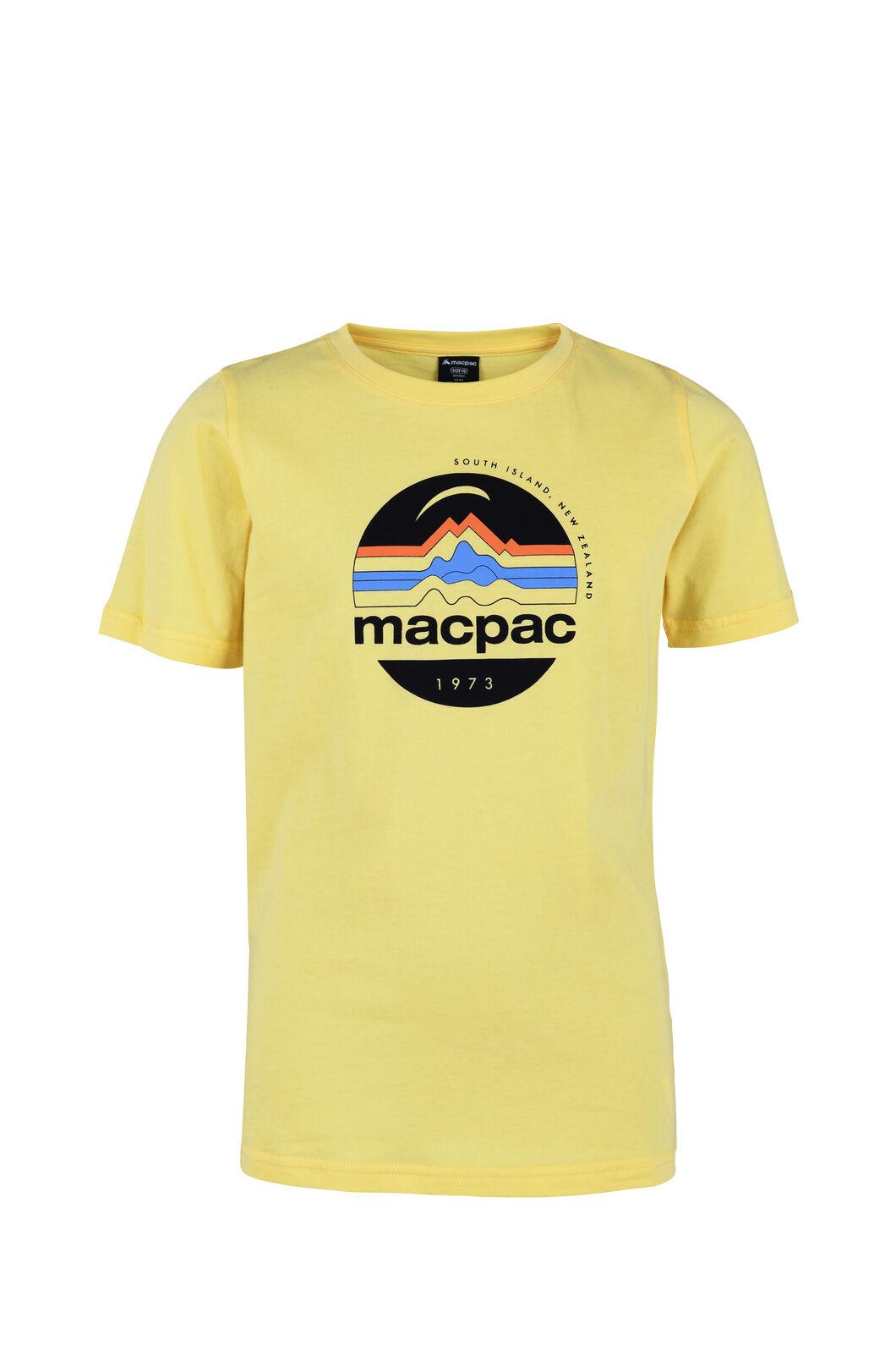 Macpac Retro Organic Tee - Kids', Sunshine, hi-res