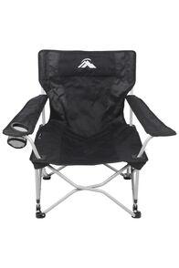 Macpac Event Quad Folding Chair, Black, hi-res