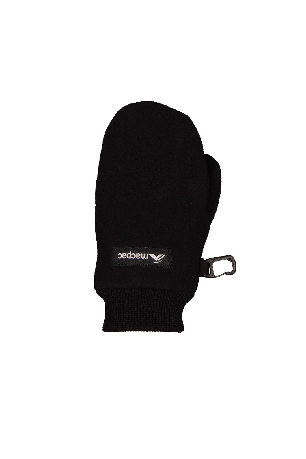 Macpac Fleece Mittens - Kids', Black, hi-res