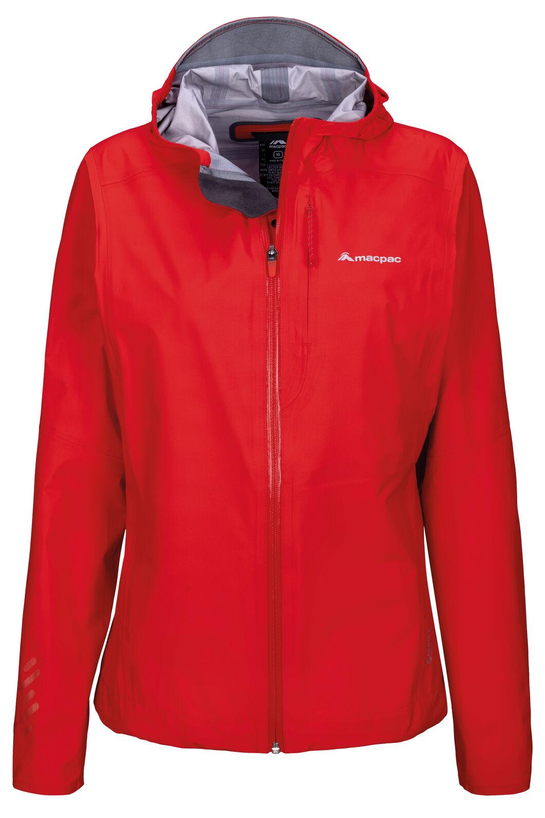 Macpac Tempo Pertex® Rain Jacket — Women's, Fiery Red, hi-res
