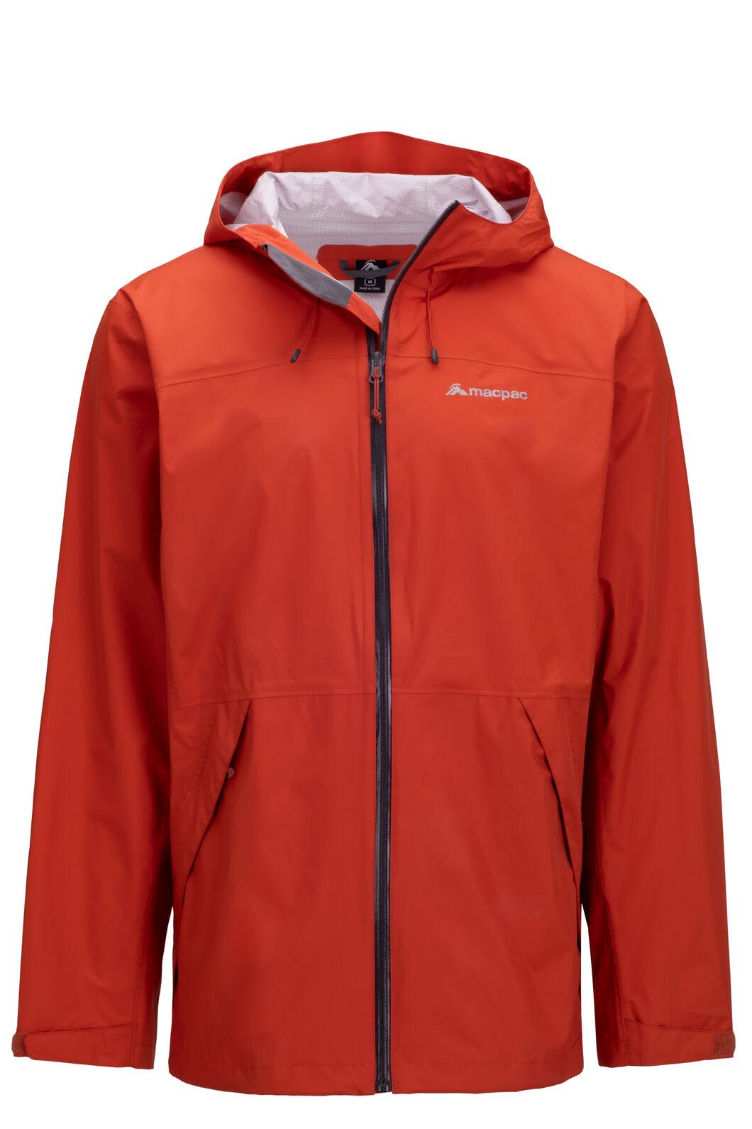 Macpac Men's Mistral Rain Jacket, Burnt Ochre, hi-res
