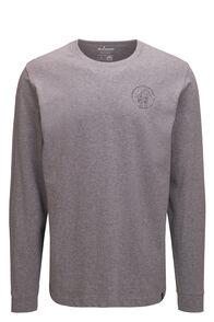 Macpac Since 1973 Fairtrade Organic Cotton Long Sleeve Tee — Men's, Grey Marle, hi-res