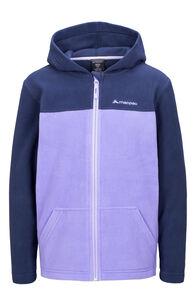 Macpac Kids' Tui Polartec® Fleece Jacket, Black Iris/Aster Purple, hi-res