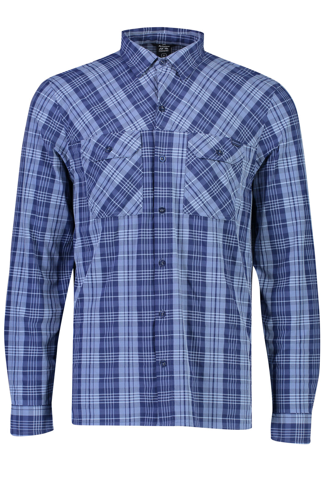 Macpac Eclipse Long Sleeve Shirt - Men's, Medieval Blue, hi-res