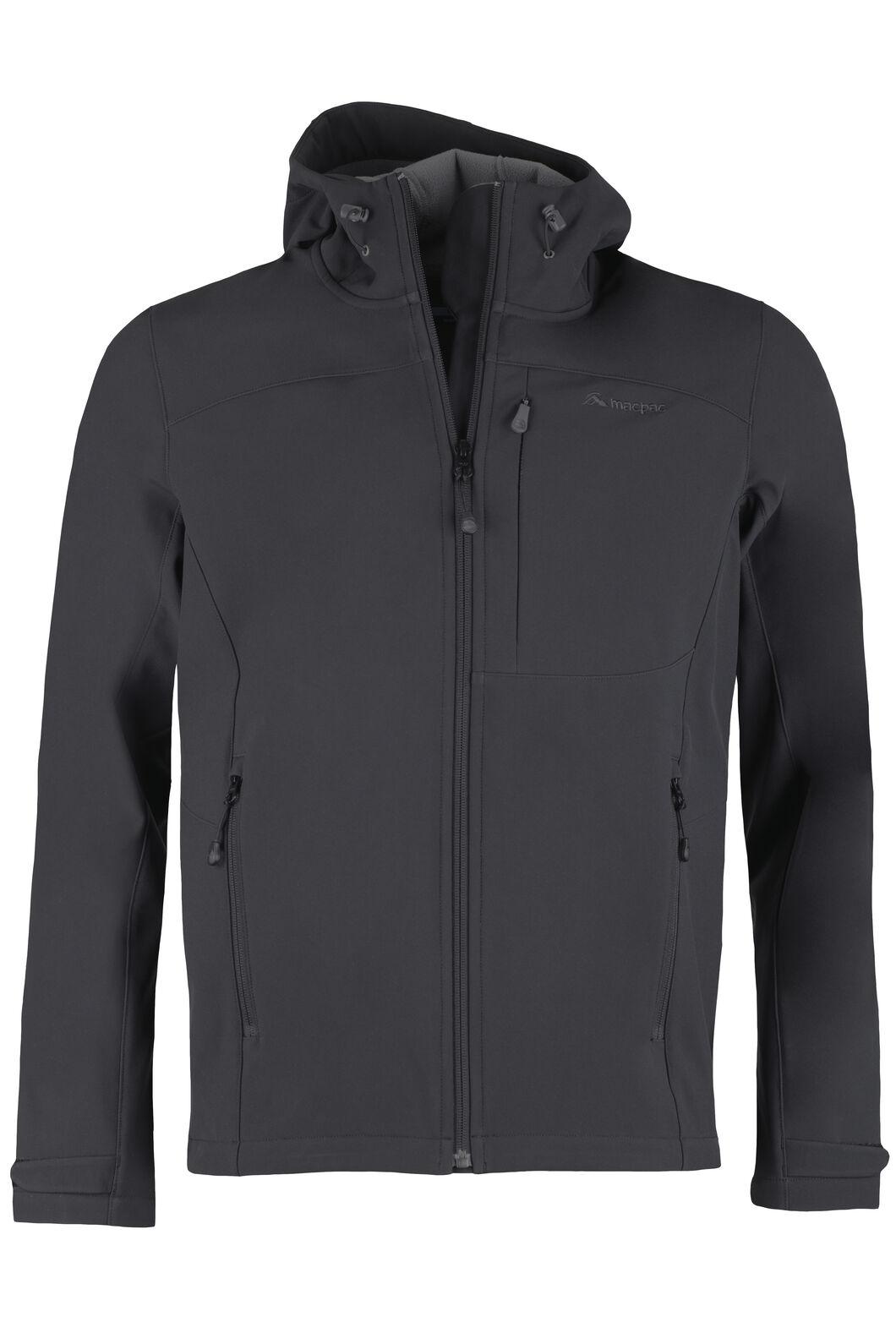 Sabre Hooded Softshell Jacket - Men's, Black, hi-res