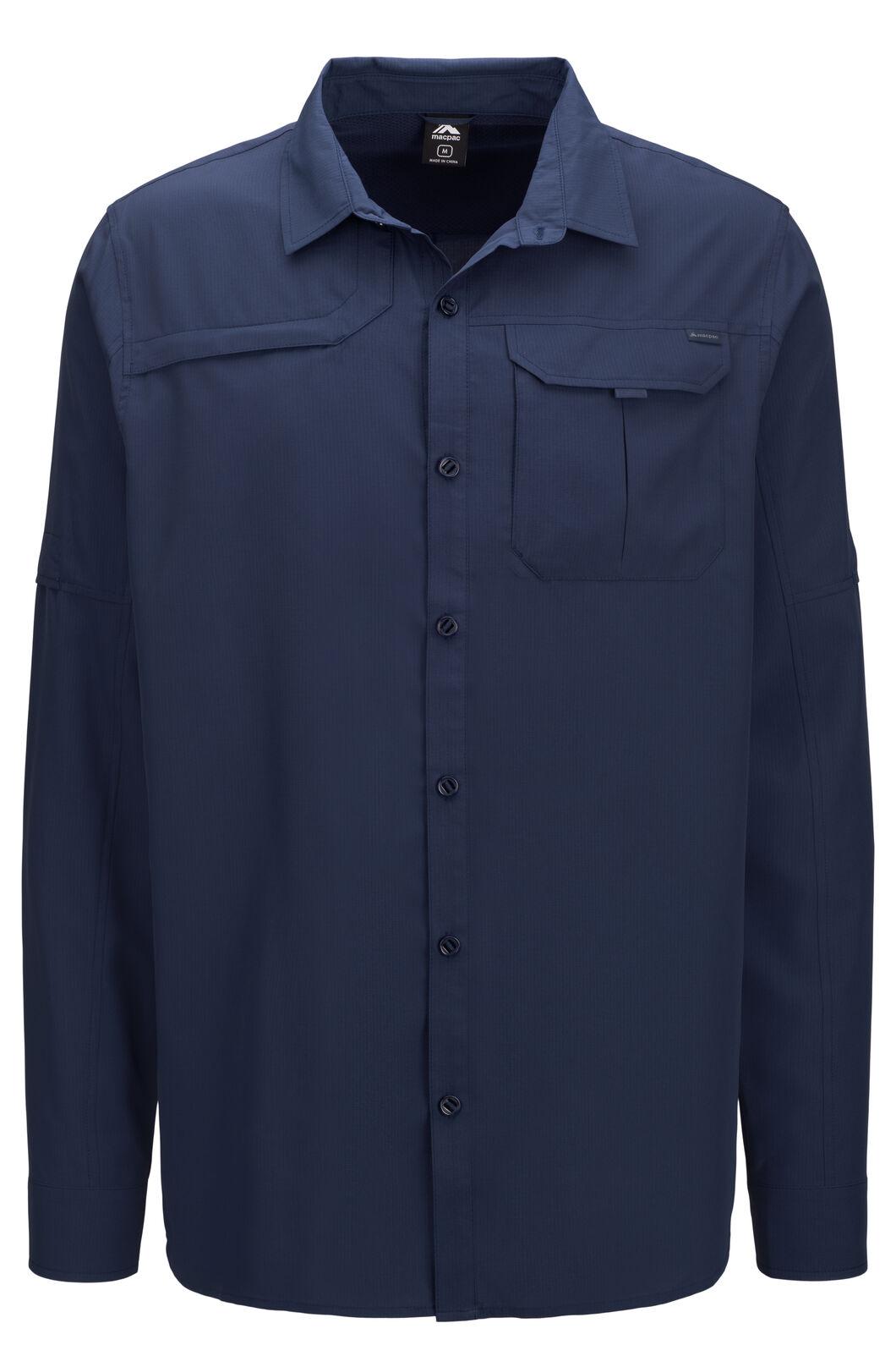 Macpac Men's Ranger Long Sleeve Shirt, Navy Iris, hi-res