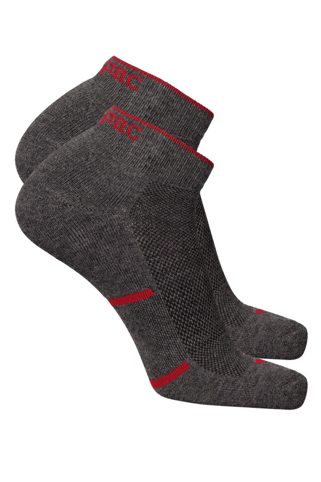 Anklet Socks 2 Pack, Grey Melange, hi-res