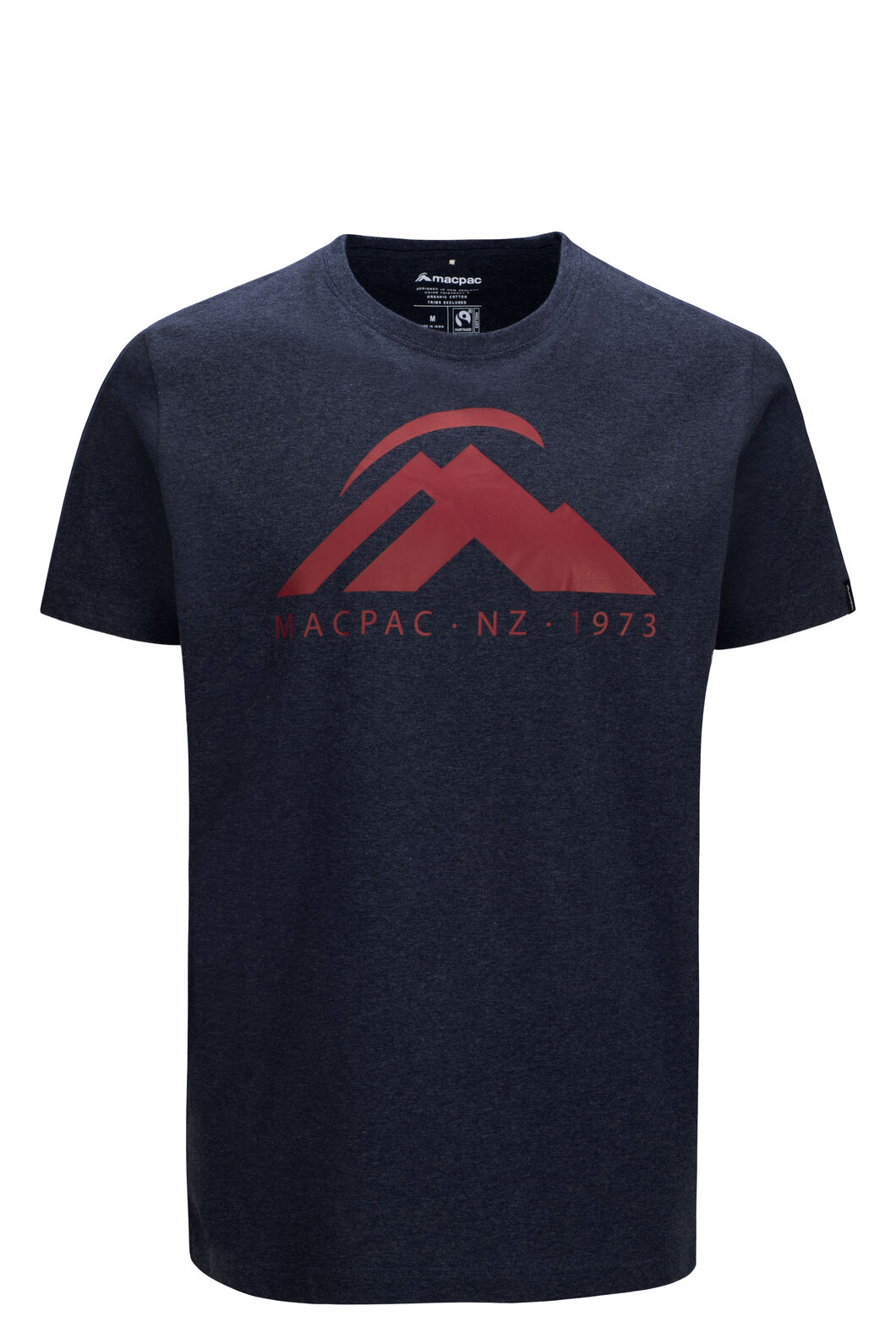 Macpac Mountain Fairtrade Organic Cotton Tee — Men's, Total Eclipse Marle, hi-res