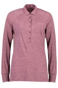 Macpac Rove Merino Blend Long Sleeve Tee — Women's, Fig Stripe, hi-res