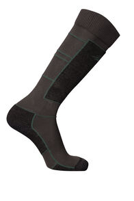 Tech Ski Socks, Charcoal/Kombu Green, hi-res