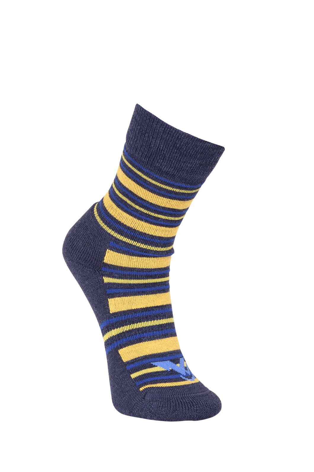 Macpac Footprint Socks Kids', Black Iris/Super Lemon, hi-res