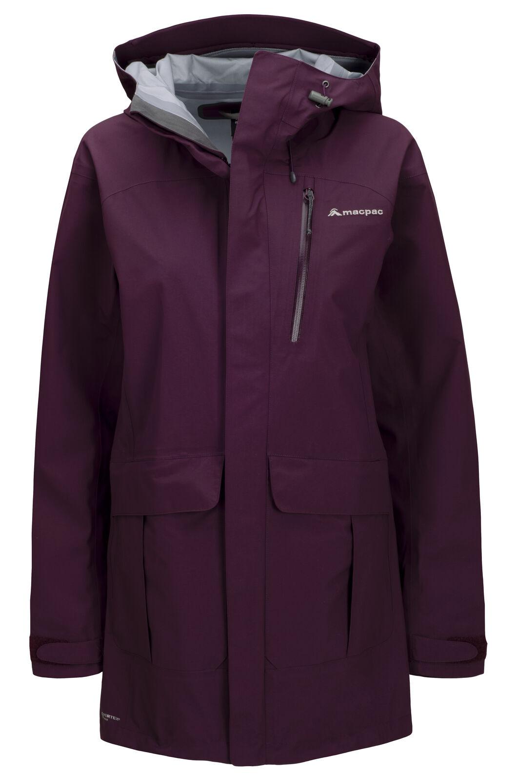 Macpac Women's Copland Pertex® Raincoat, Blackberry Wine, hi-res