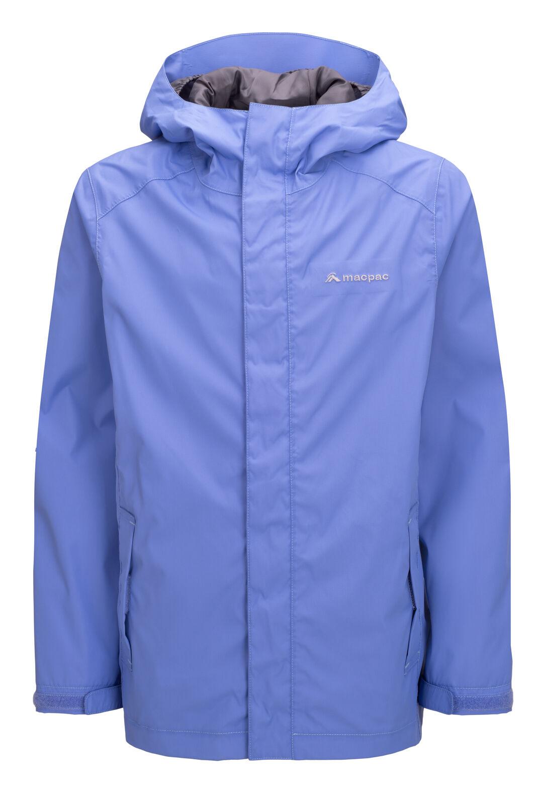 Macpac Jetstream Rain Jacket — Kids', Wedgewood, hi-res