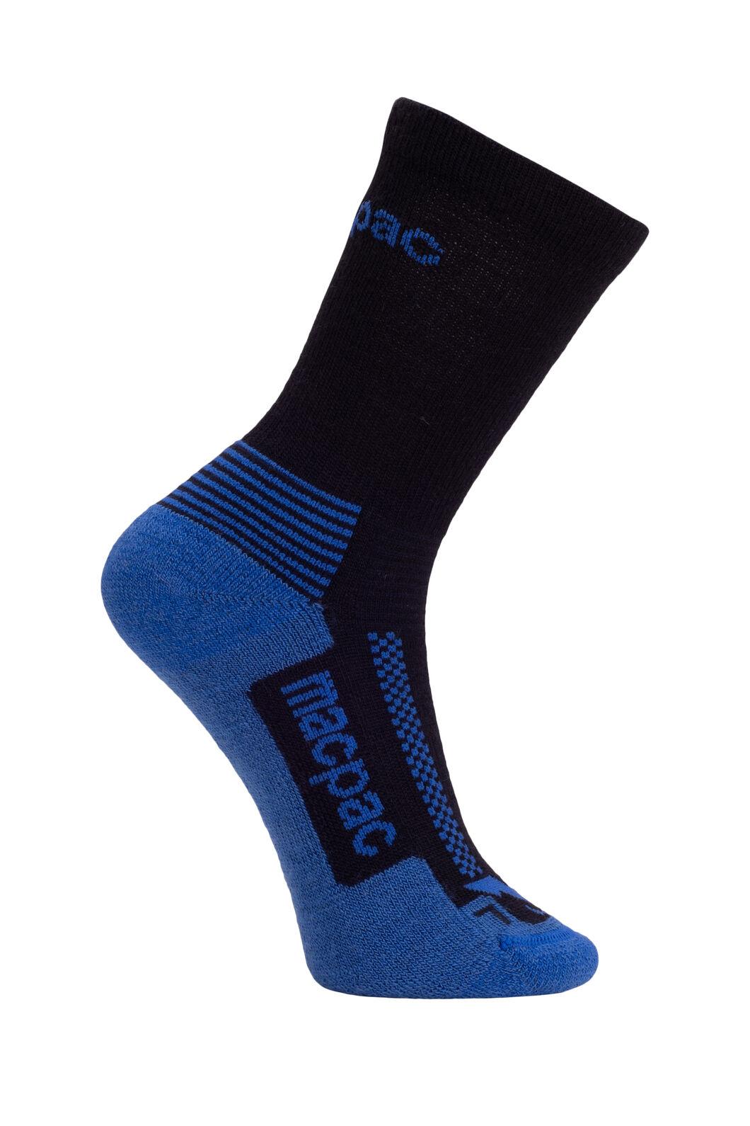 Macpac Kids' Trekking Socks, Navy/Classic Blue, hi-res