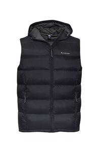 Macpac Halo Hooded Down Vest — Men's, Black, hi-res