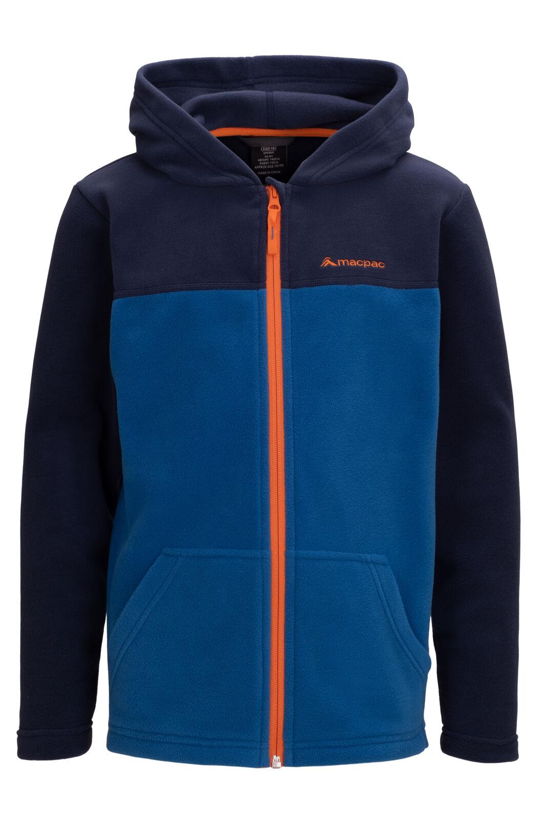Macpac Kids' Tui Polartec® Fleece Jacket, Black Iris/Classic Blue, hi-res