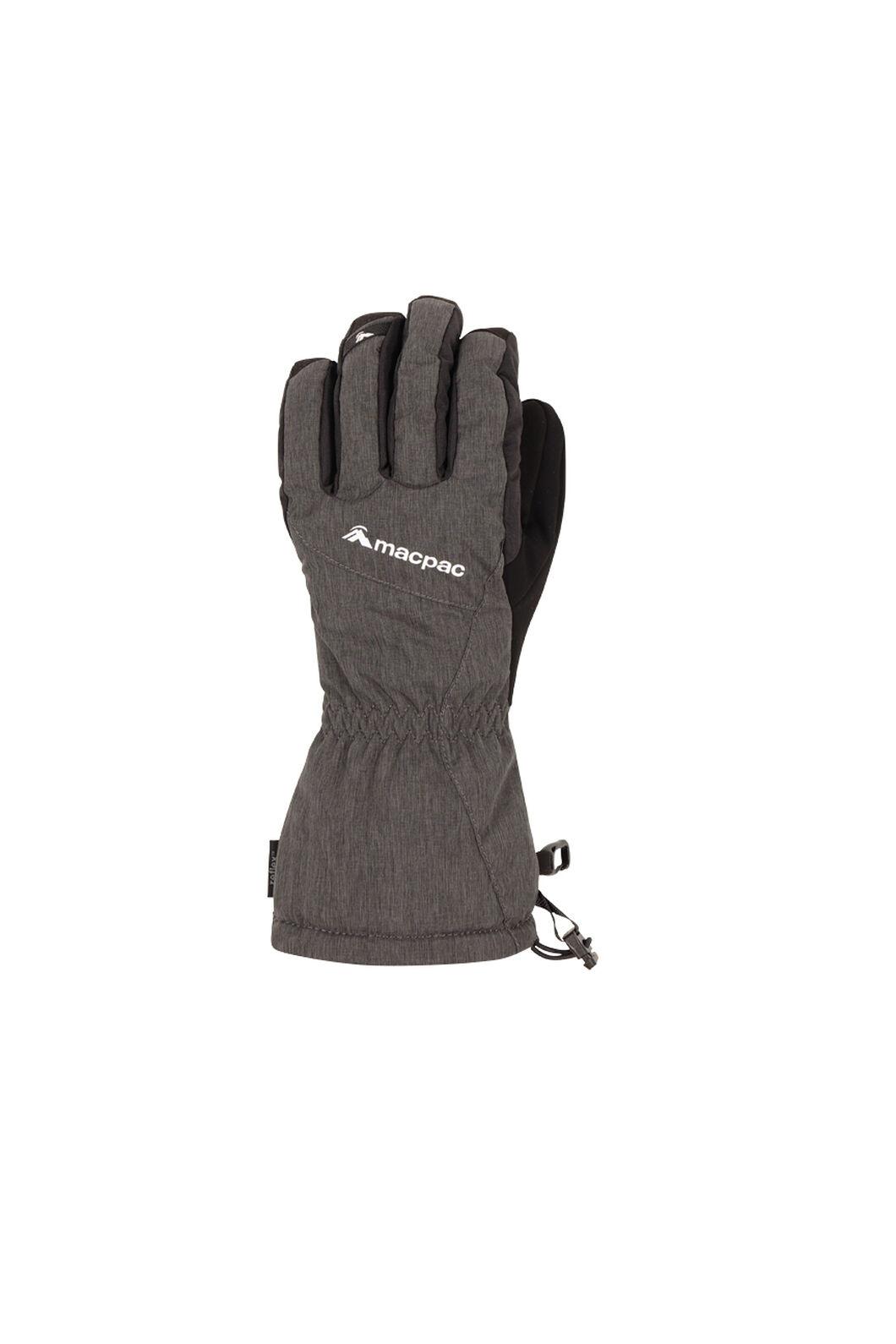 Macpac Carve Ski Gloves, Black, hi-res