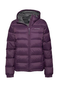 Women's Halo Hooded Down Jacket, Blackberry Wine, hi-res