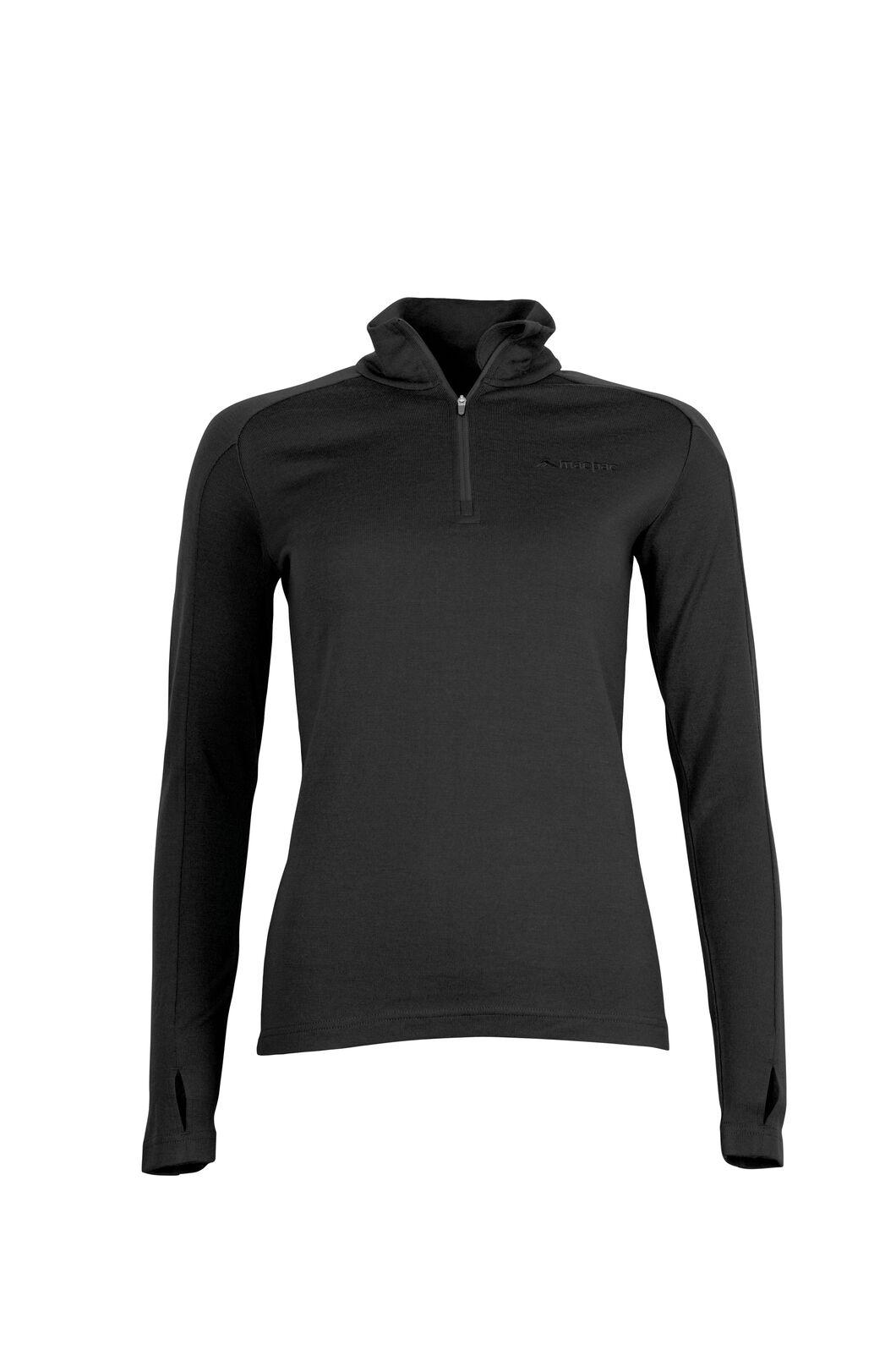 Macpac Kauri 280 Merino Pullover — Women's, Black, hi-res
