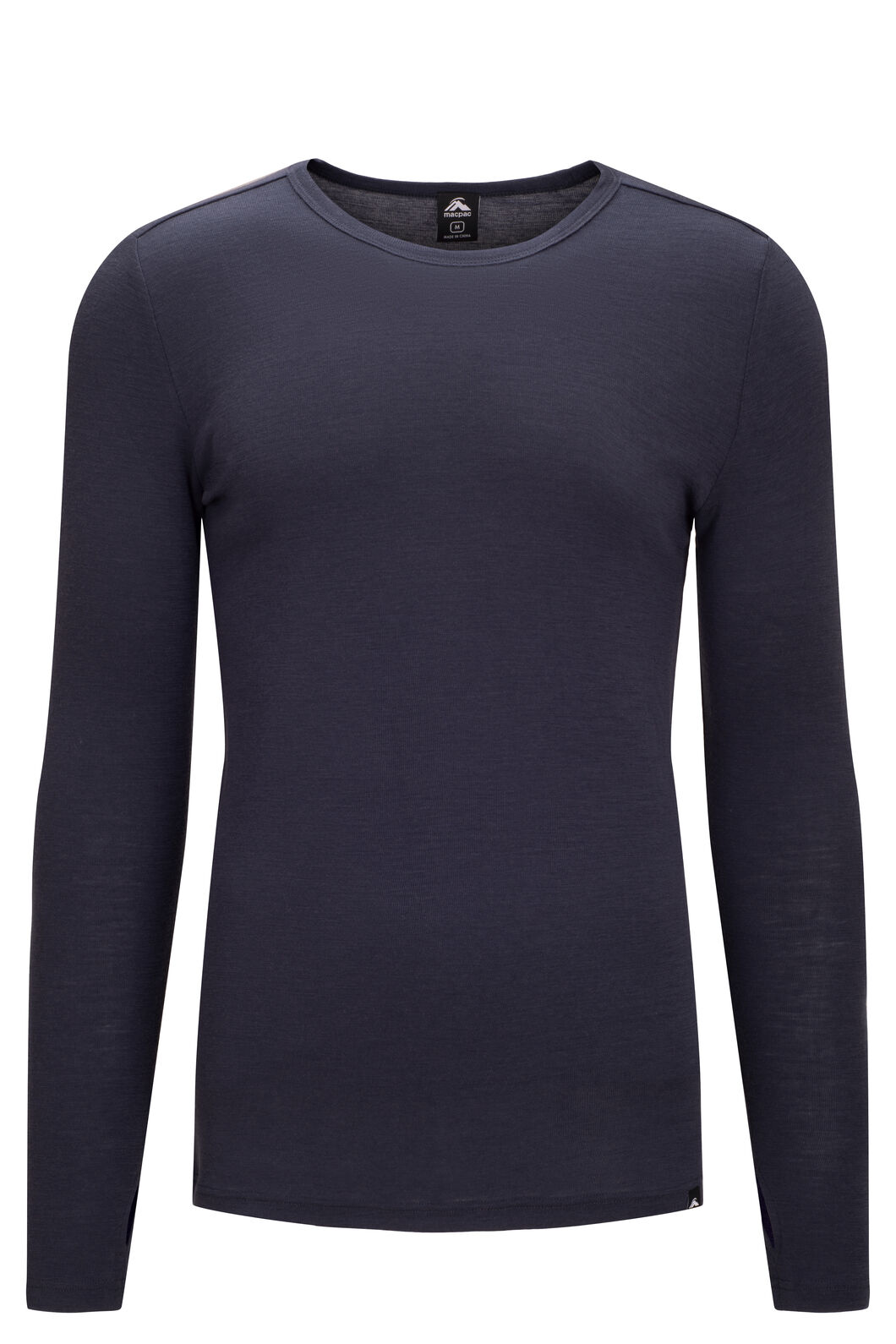 Macpac 220 Merino Long Sleeve Top — Men's, BLUE NIGHTS, hi-res