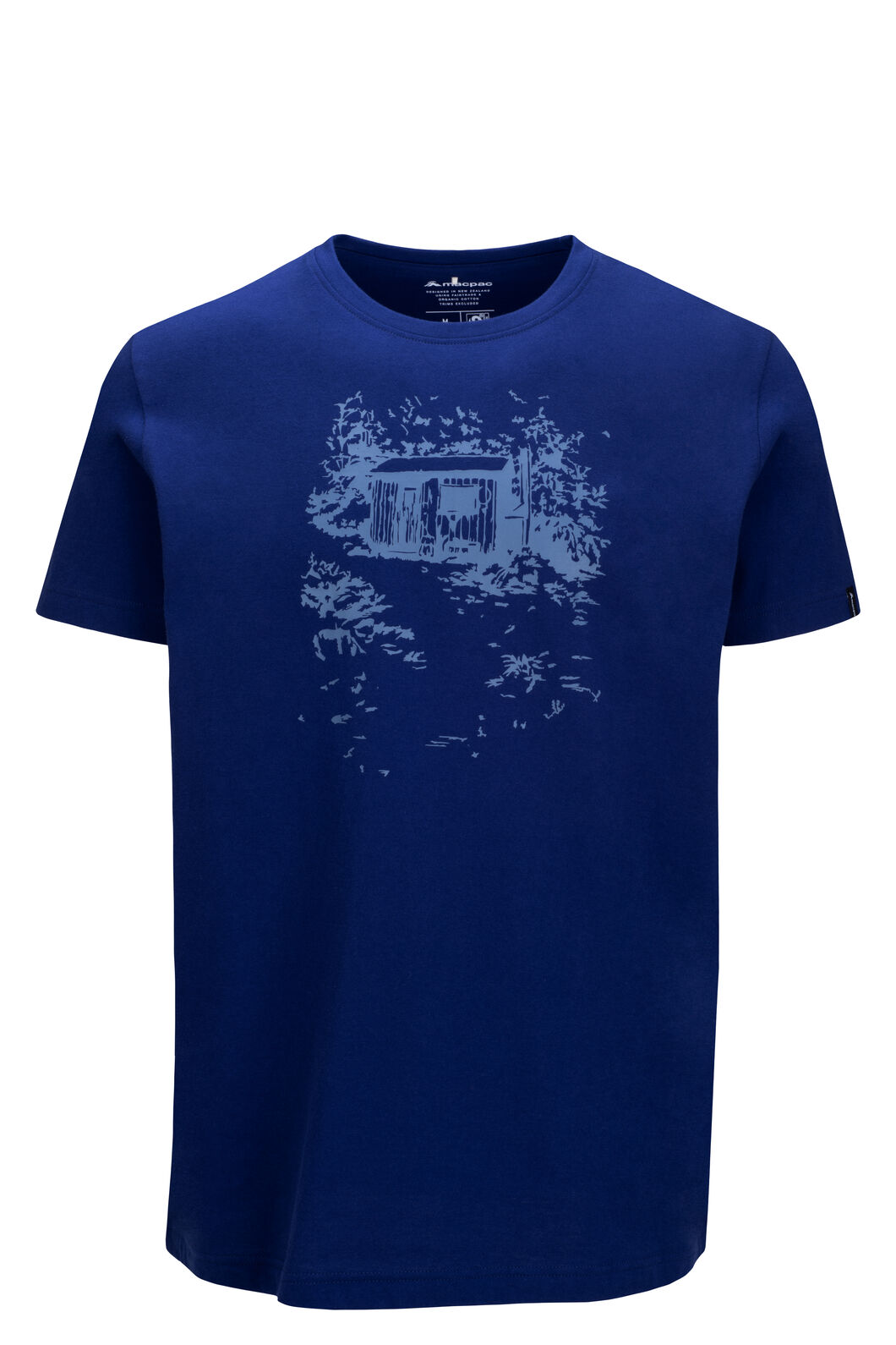 Macpac Hut Fairtrade Organic Cotton Tee — Men's, Blueprint, hi-res